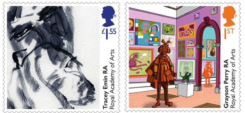 Special Stamps by Tracey Emin and Grayson Perry