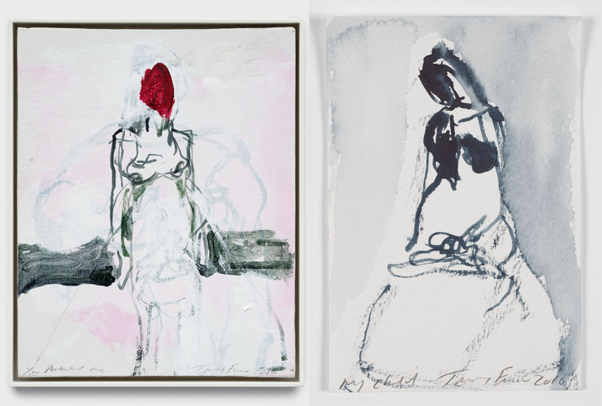 Left Tracey Emin - You Protected me, 2016 Right Tracey Emin - My child, 2016