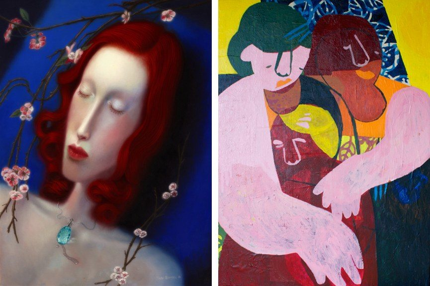 Left Troy Brooks - Bedlam Harvest Right Helen Oprey - HUG (FINAL), 2016