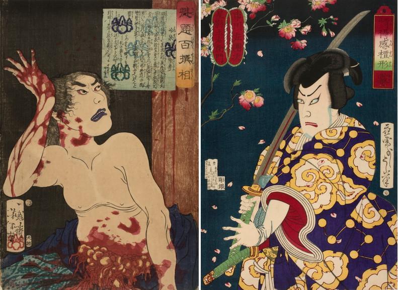 Left Tsukioka Yoshitoshi - Reisei Hangan Right Tsukioka Yoshitoshi - Mist Actor