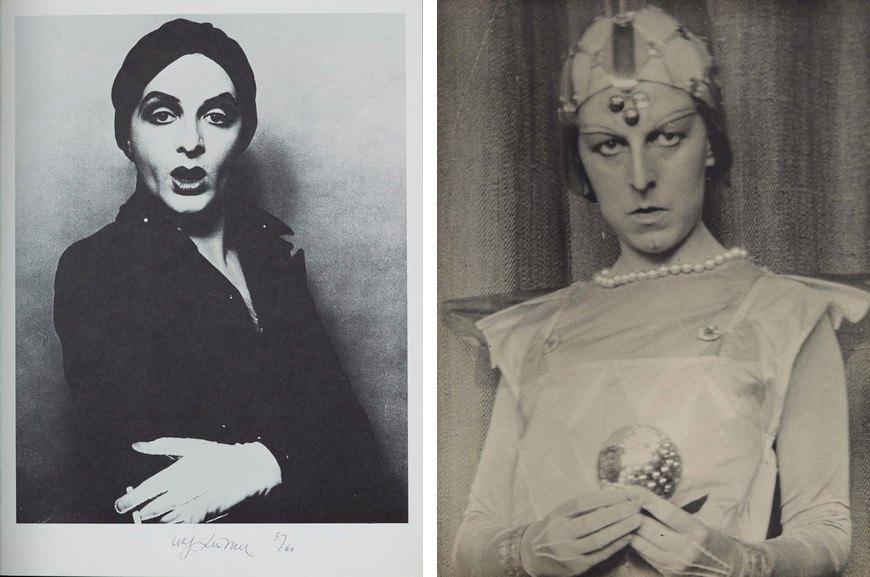 Left Urs Lüthi - Tell me who stole your smile Right Claude Cahun - Autoportrait, 1929