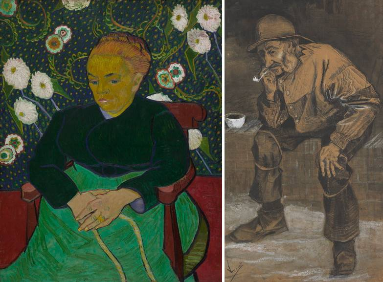 Left Vincent van Gogh - Madam Roulin Right Vincent van Gogh - Old fisherman