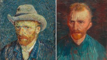 Left Vincent van Gogh - Self-Portrait with Grey Felt Hat Right Vincent van Gogh - Self-Portrait