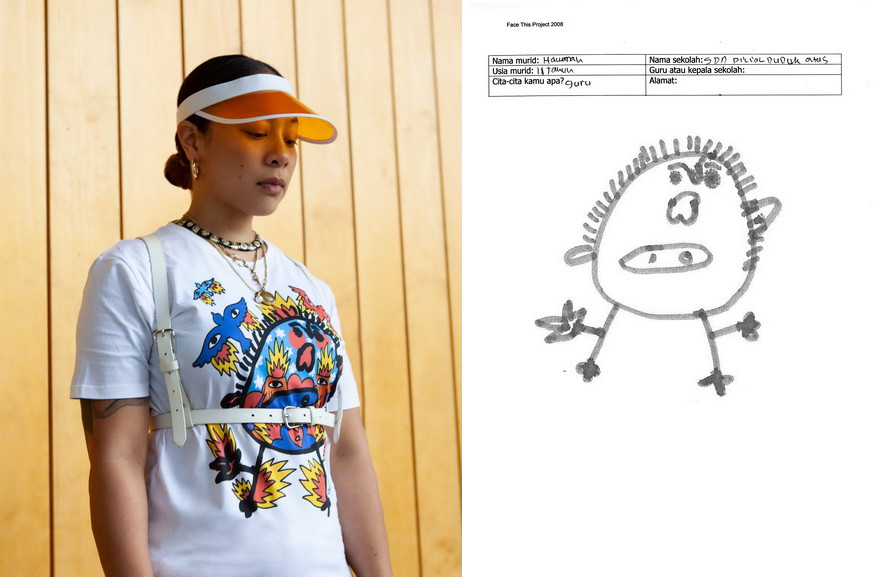 Left Wayta Patmo Right Kids drawing