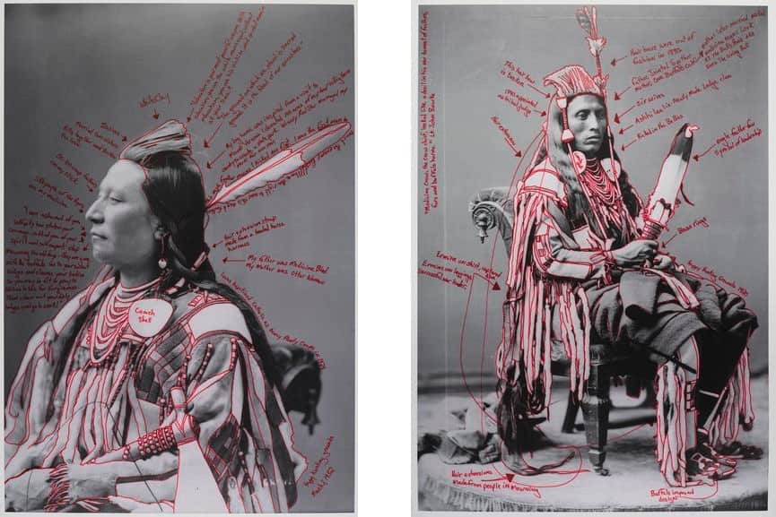 Wendy Red Star - Alaxchiiaahush : Many War Achievements : Plenty Coups, 2014, Wendy Red Star - Peelatchiwaaxpáash : Medicine Crow (Raven), 2014