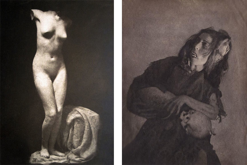 Left William Mortensen - Fragment Right William Mortensen - Woman with Skull