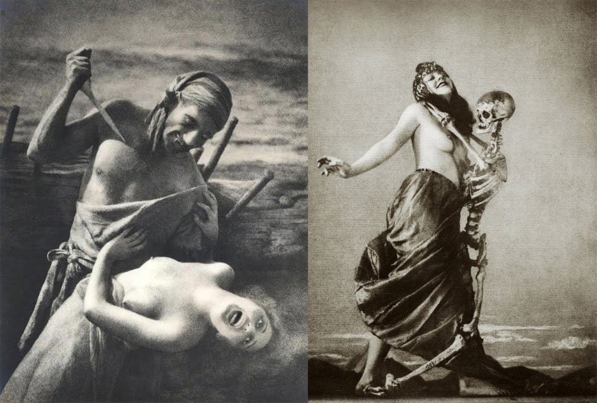 Left William Mortensen - The Spanish Main Right William Mortensen - Macabre