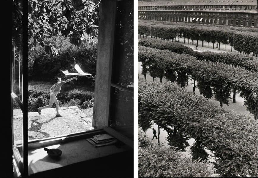 Willy Ronis - Vincent Aeromodeliste, Gordes, France, 1952, Henri Cartier-Bresson - Le Palais Royale, 1960