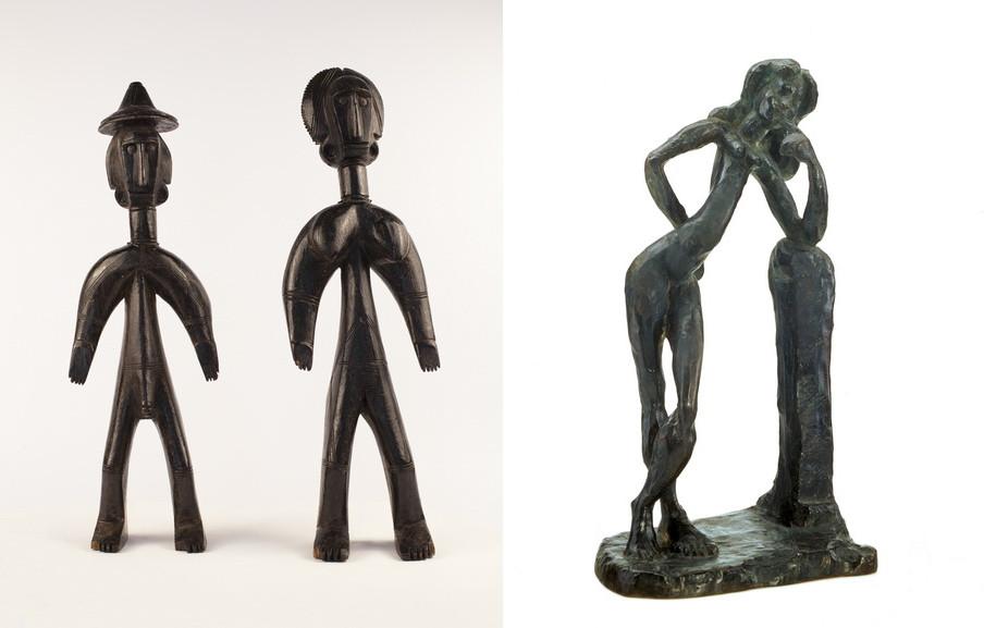 Left Workshop in the Segu region Right Henri Matisse - La serpentine