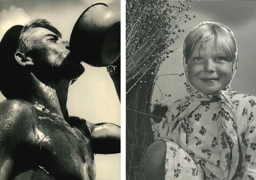 Yakov Khalip - Thurst (Drink), 1950, Semyon Fridlyand - Volzhanocka (Girl from the Volga region), 1930s.
