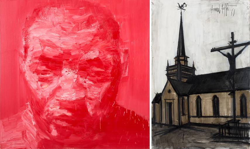 Left Yan Pei-Ming Autoportrait Right Bernard Buffet Eglise De Landerneau