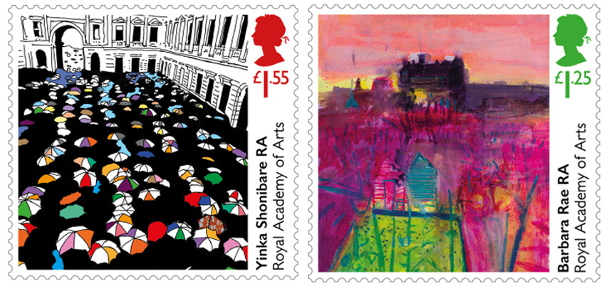 Special Stamps by Yinka Shonibare and Barbara Rae