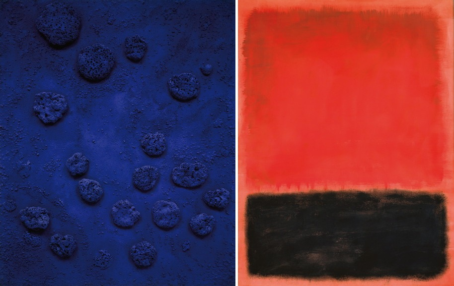 Left Yves Klein – Re 1 Right Mark Rothko - Composition