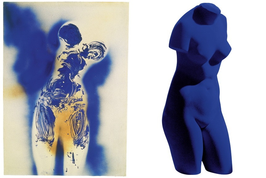 Left Yves Klein - Untitled Anthropometry Right Yves Klein Blue Venus