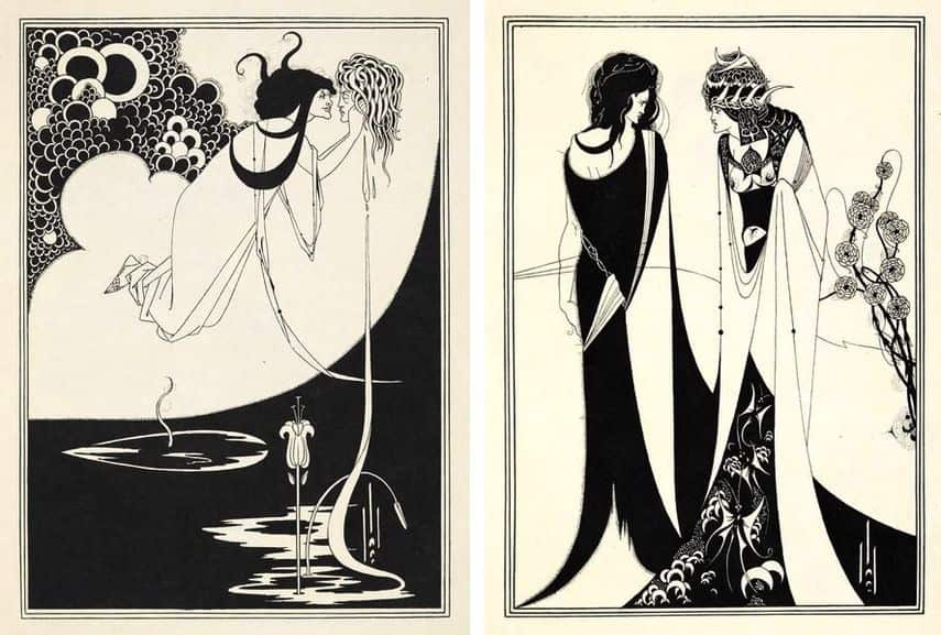 "Aubrey Beardsley's Illustrations for Oscar Wild's Play ""Salome""; one of the books designed by him"