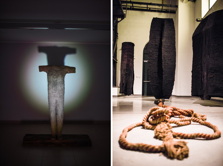 Left and Right Magdalena Abakanowicz - Installation view