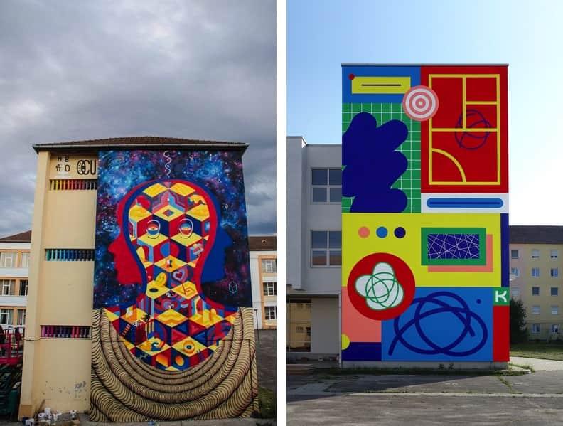 Murals at Sisaf Romania