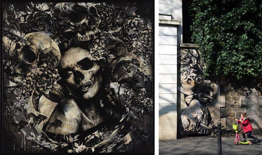 Ultraviolence, 2017, Eric Lacan - Paris Mural