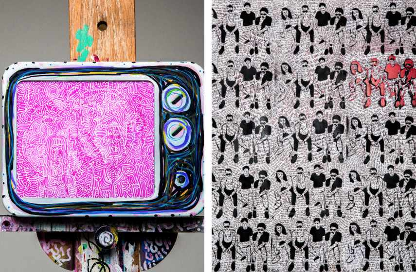 Lefty - Break Up TV (detail) (left), We Real Cool (detail) (right)