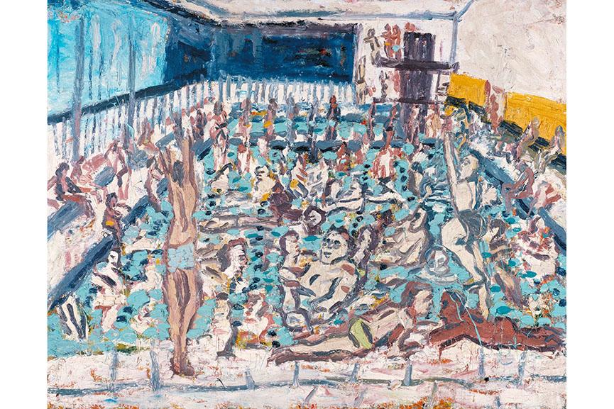 Leon Kossoff - Children's Swimming Pool, Autumn Afternoon, 1971