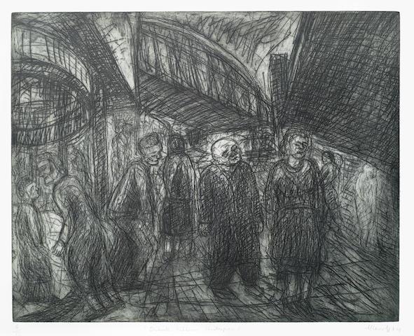 Leon Kossoff-Outside Kilburn Underground-1984