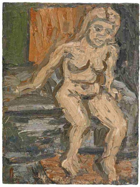 Leon Kossoff-Pauline Sitting On The Bed-1978