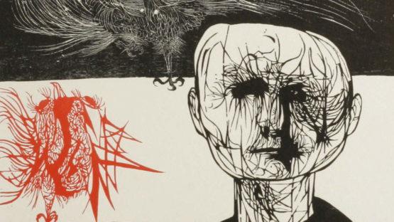 Leonard Baskin - Tormented Man, 1953 (detail)