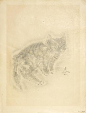 Tsuguharu Foujita-Somilis, from A Book of Cats-1929