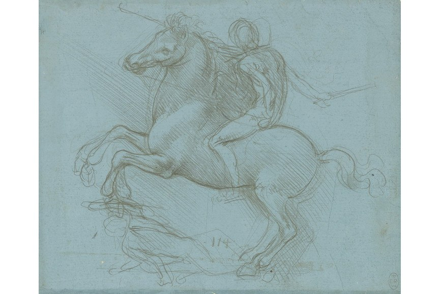 Leonardo da Vinci - A design for an equestrian monument
