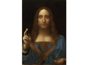 Leonardo da Vinci - Salvator Mundi, c1500, one of the most controversial artworks regarding the authenticity