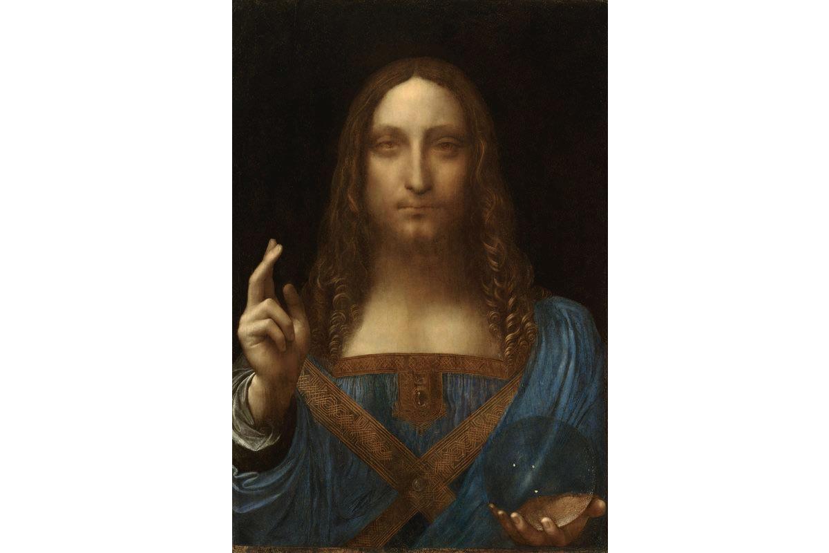 Leonardo da Vinci - Salvator Mundi, c1500, one of the most controversial artworks regarding the authenticity