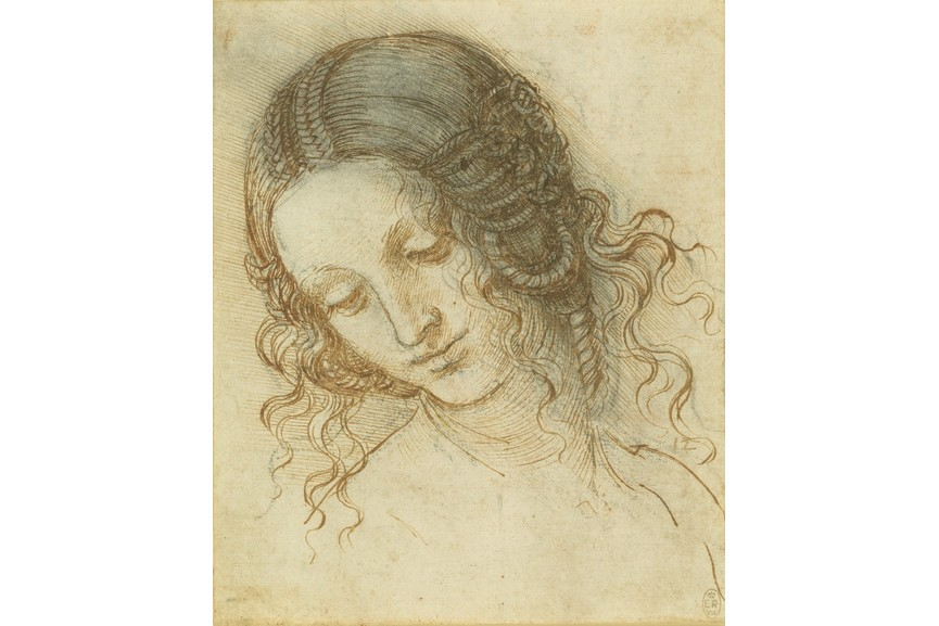 Leonardo da Vinci - The head of Leda