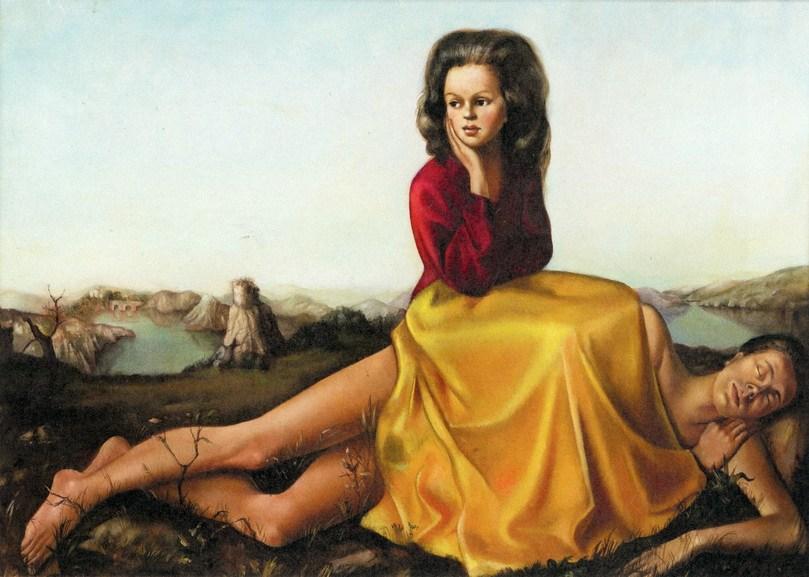 Leonor Fini - Femme assise sur un homme nu