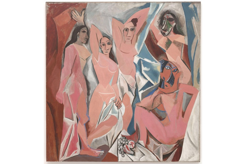 Most famous Pablo Picasso paintings of woman body - Les Demoiselles d'Avignon, 1907 - Image via wikimediaorg and via Picasso