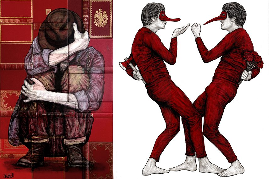 Levalet - Couverture (left) Faux Semblants Lite (Right)