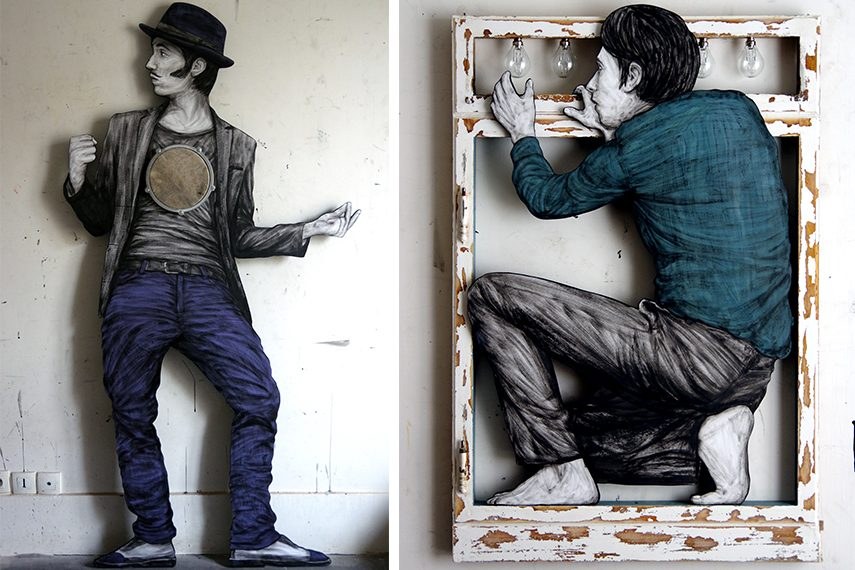 Levalet - and the beat goes on (Left) Inspiration (Right)