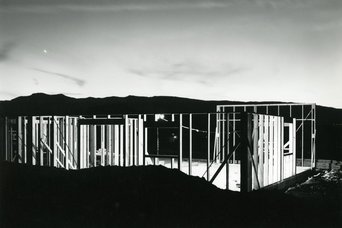 Lewis Baltz, Night Construction, from Nevada, 1977, open from January 31