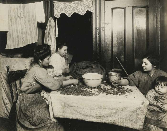 Lewis Wickes Hine-Tenement Home-Work N. Y. City (Shelling Nuts)-1910