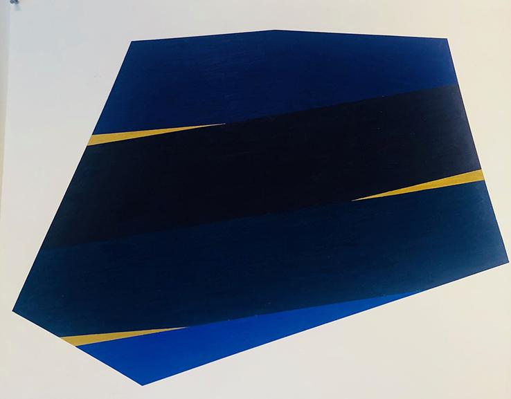 Li Trincere - Blue/yellow/black drawing, 2018/19