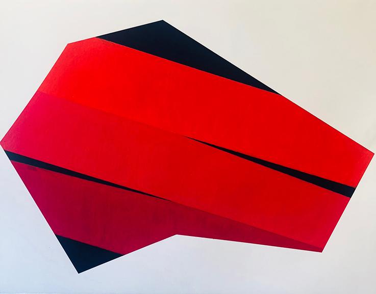 Li Trincere - red/black drawing, 2018/19