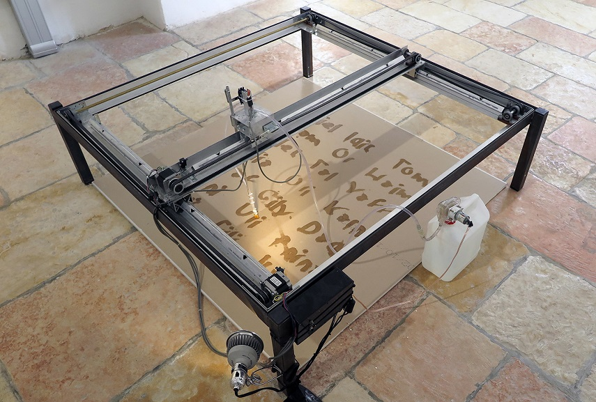 Liat Segal - Writing Machine, 2014. Image courtesy of the artist.