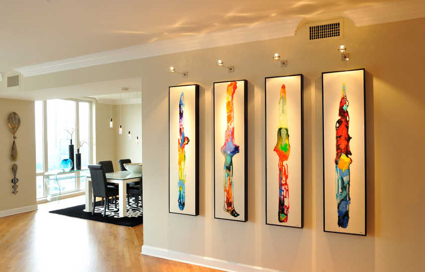 How to arrange perfect lighting for your artwork widewalls lighting for artwork aloadofball Image collections