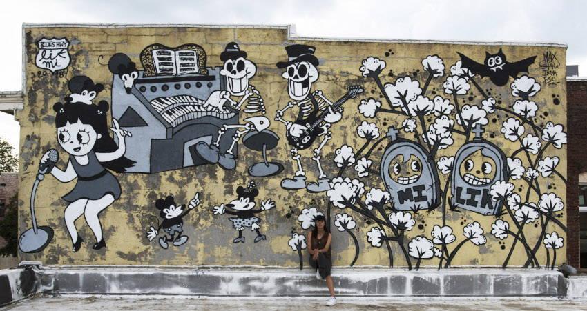 Lik Mi - Mural in Clarksdale