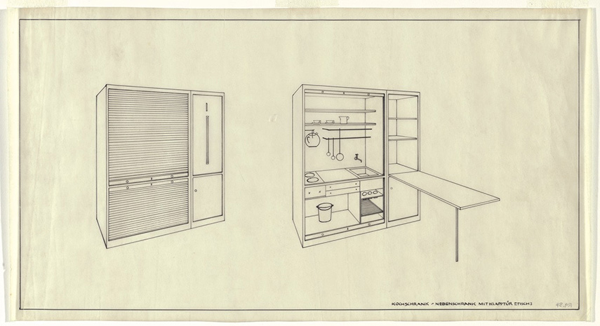 Lilly Reich - Single Person Apartment, 1931