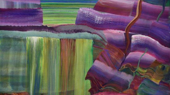 Linda Price-Sneddon - Interface Lime Green Falls, Liminal Landscape Series, Nov-18 (detail)