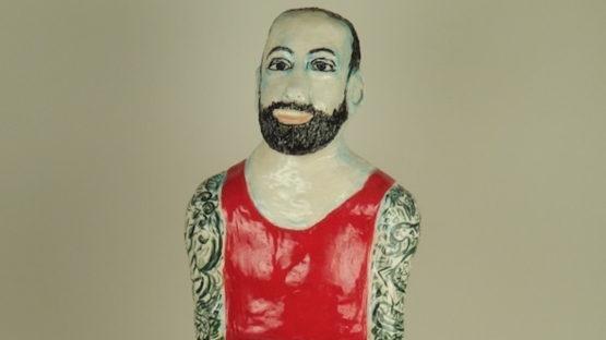 Linda Smith - Man With Tattoos, 2015 (detail)