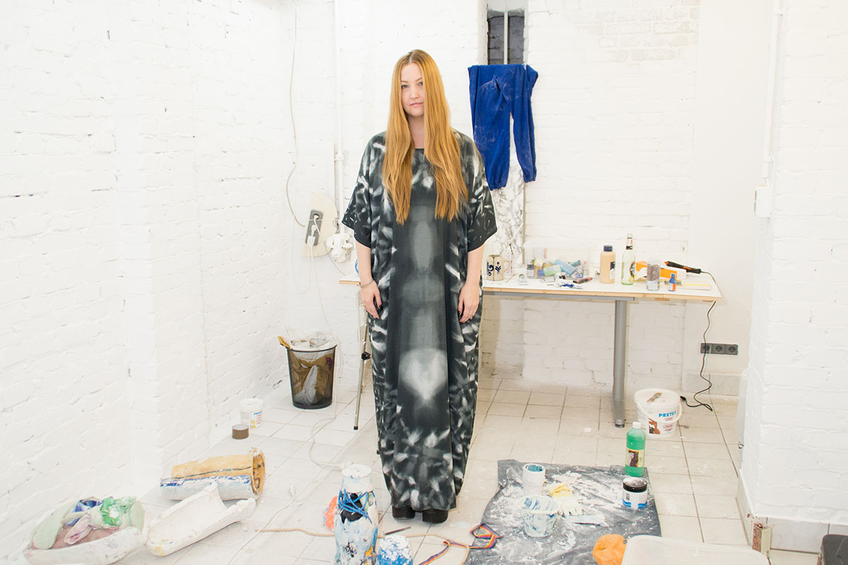 Lindsay Lawson in her Studio