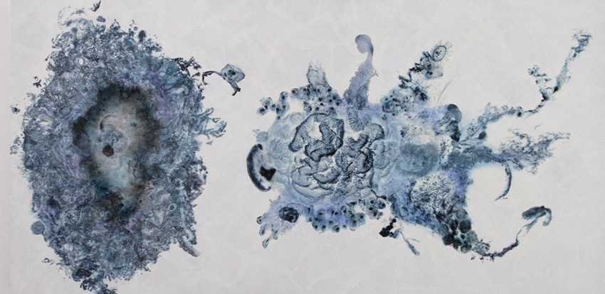 Ling Pui Sze CC - Reproducibility #7, 2015 - mixed media on canvas - 60 x 120cm - new ink