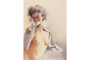 Lisa Yuskavage - Cool One Drinking Hot Tea, 2000