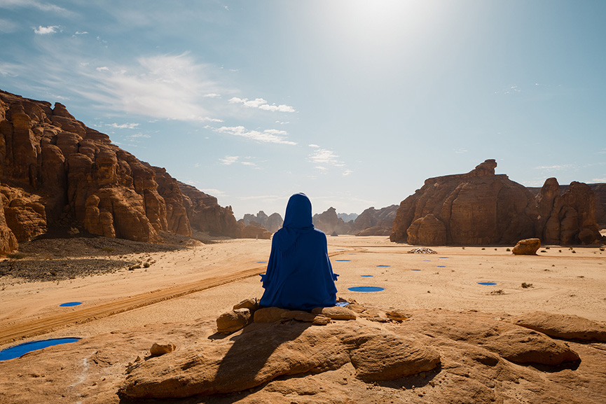 Lita Albuquerque - NAJMA (She Placed One Thousand Suns Over the Transparent Overlays of Space), Desert X AlUla 2020 in Saudi Arabia featuring 14 artists
